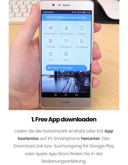 Swisstrack App erspart SMS-Programmierung